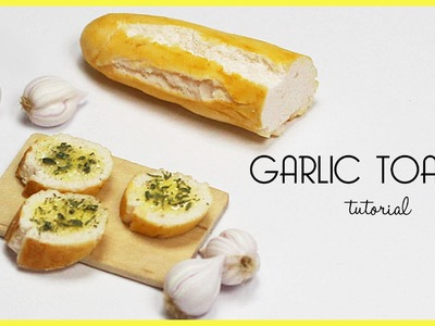 Polymer clay Garlic Toasts TUTORIAL