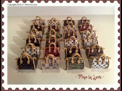 Polymer clay Miniature bags Collection - Vol 2