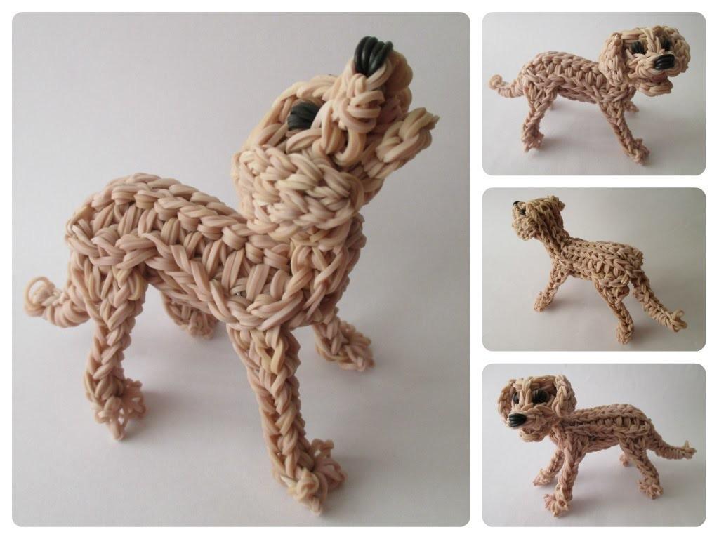 Rainbow Loom labrador - golden retriever - ZUMA puppy Part 1.2 Loombicious