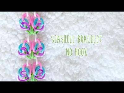 Rainbow Loom No Hook Seashell Bracelet Tutorial