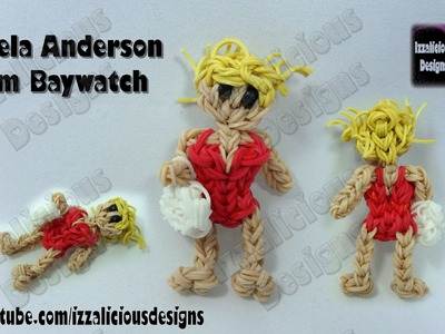 Rainbow Loom Pamela Anderson (Baywatch) Action Figure.Charm © Izzalicious Designs 2014