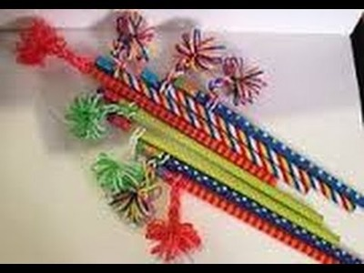 RAINBOW LOOM PENCIL GRIP - How to make EASY