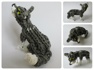 Rainbow Loom wolf cub - husky - EVEREST puppy Part 2.2 Loombicious