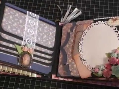 Shabby chic mini album swap with Crafty Malika