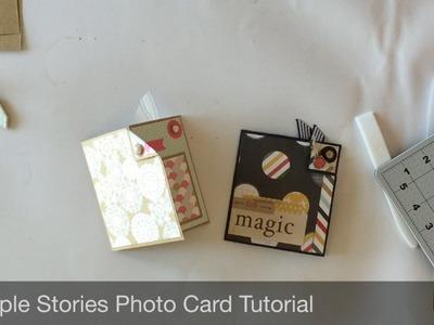 Simple Stories Photo Card Tutorial