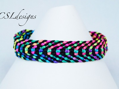 Square knot weave macrame bracelet