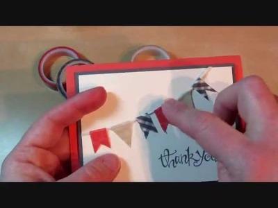 Stampin' Up! Washi Tape Banner Card