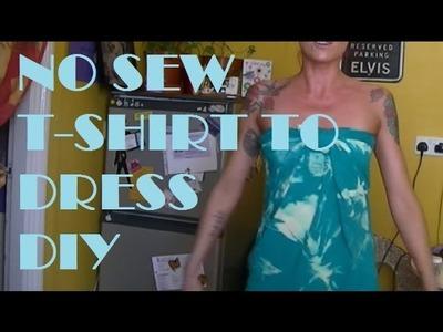 T-shirt to Dress DIY No Sew Upcycle