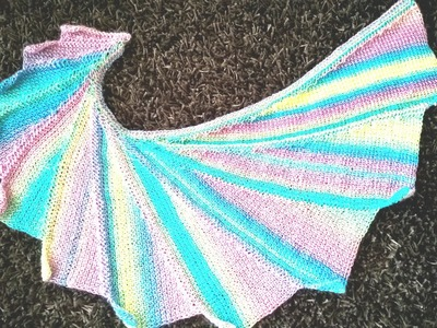 Tunisian crochet wingspan scarf