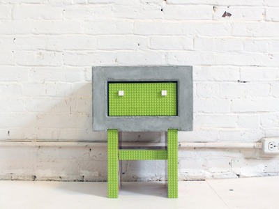 Use Legos to make a DIY Concrete Nightstand