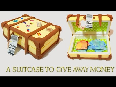 Wedding ideas - gift - Suitcase box, how to make a shirt with a bill.