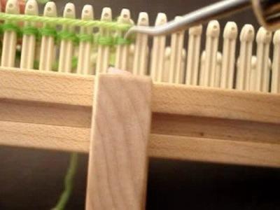 Working on Wonder Sock Loom