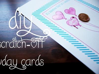 14 Days of Valentine (Day 7): Scratch-Off Vday Cards
