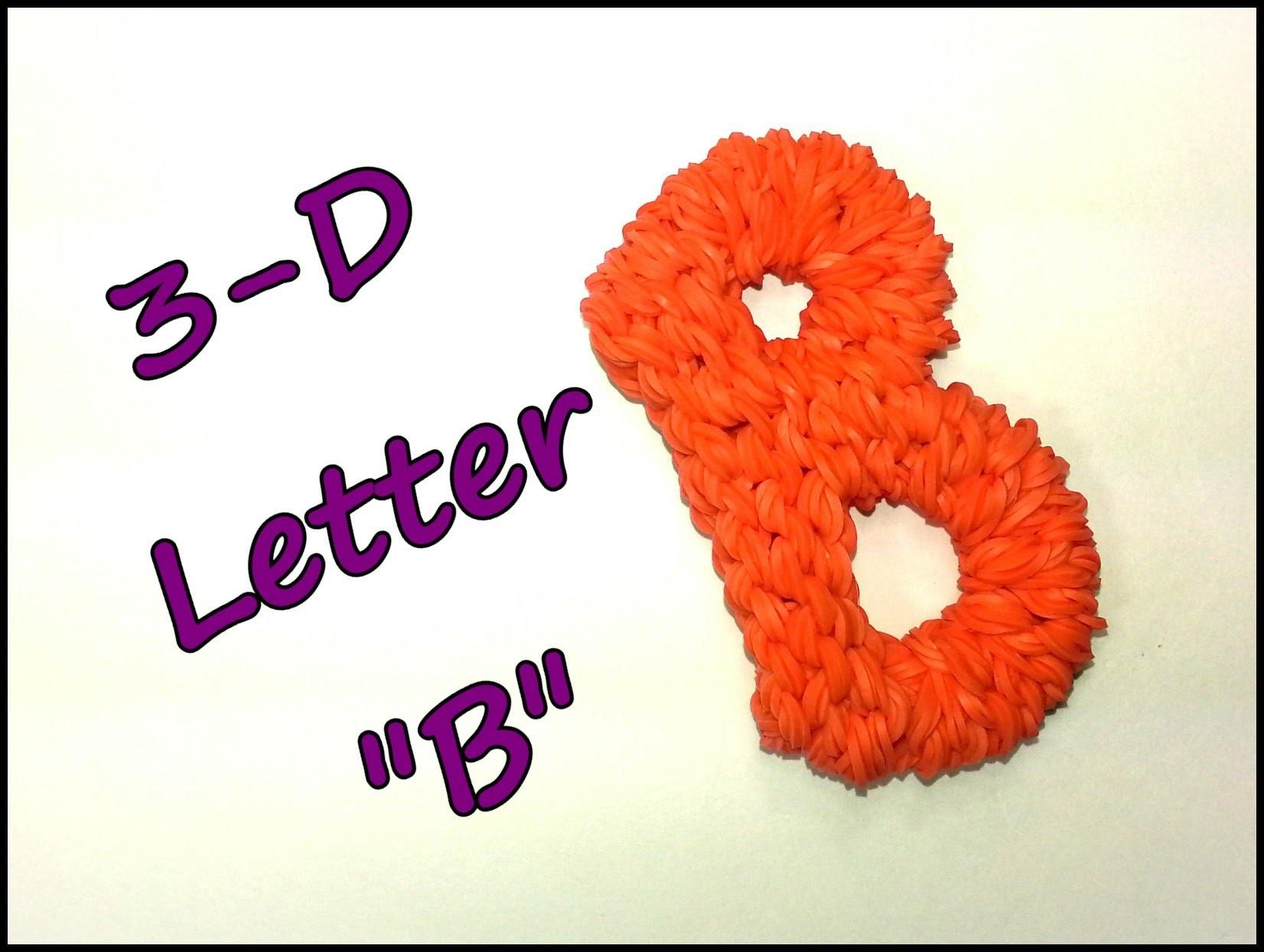 "3-D Letter ""B"" Tutorial by feelinspiffy (Rainbow Loom)"