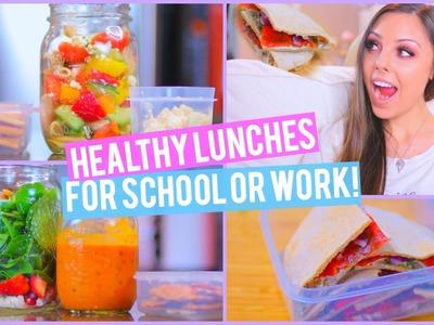 3 Healthy Lunch Ideas For Work or School + Mason Jar Life Hack! | Kristi-Anne Beil