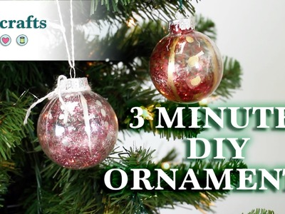 3 Minute DIY Christmas Ornaments