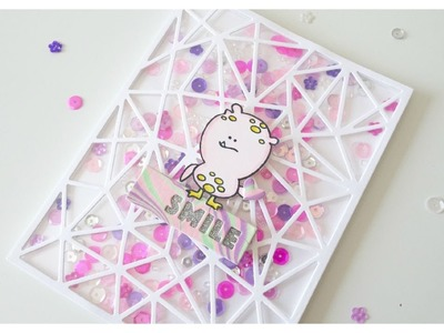 7K Video Hop - Water Marbling + Sequin Shaker Card