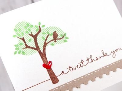 A Tweet Thank You (October 2013 Card Kit)