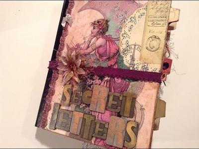 Altered Composition Book transformed - part 1 - into a Vintage Junk Journal - Flip through