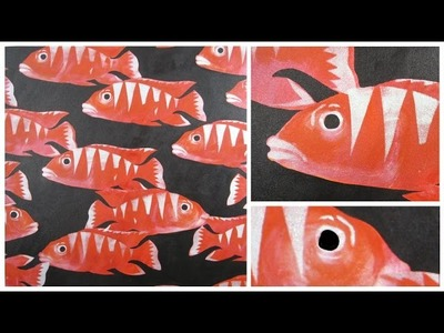 Art Lesson : Red School Of Fish In Acrylic