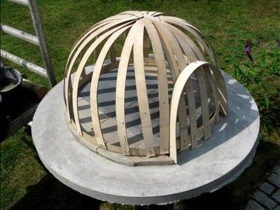 Building a wooden fired pizza oven, light construction. Lav din egen brændefyret pizzaovn DIY