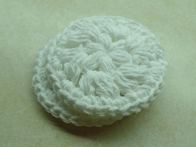 #Crochet Easy Washable Reusable Face Scrubby MakeUp Remover Pad #TUTORIAL