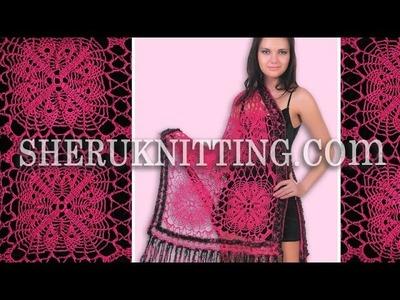 Crochet Shawl Pattern Free Model 10 Square Motif
