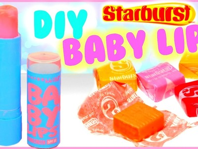 DIY Baby Lips Out Of Starbursts! | Make Tinted Lip Balm out of Candy!