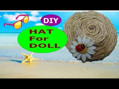 DIY Crafts: Turn Plastic Bottle Lid into a Modern Hat for Your Doll