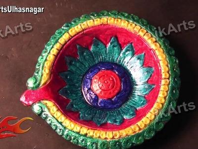 DIY Diwali Diya Decoration |How to |  JK Arts 422