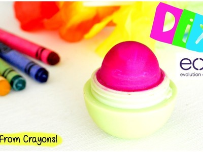 DIY EOS Lip Balm Using Crayons!   EASY