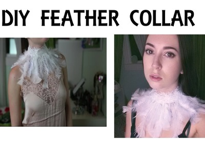 DIY Feather Collar @irenerudnykphoto Cheap and Easy
