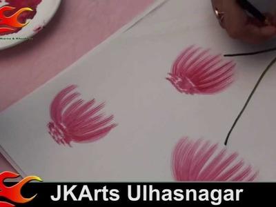 DIY Free hand painting- Brush Strokes 4- JK Arts 034