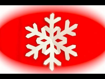 DIY How to Make a SNOWFLAKE, Floco de nieve
