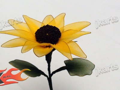 DIY How to make Stocking Sunflower  - JK Arts 096