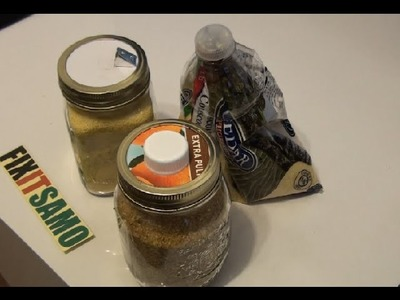 DIY how to store  herbs and other grains  in a jar