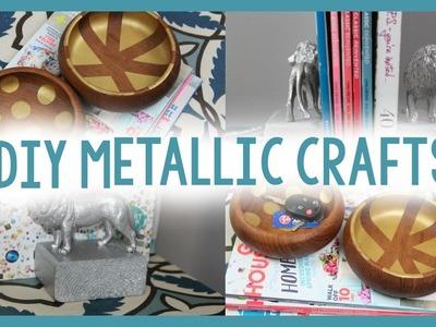DIY METALLIC CRAFTS | DIY DORM DECOR | BACK TO SCHOOL ORGANIZATION