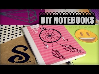 DIY Notebooks. Back To School. Easy School Supplies How To