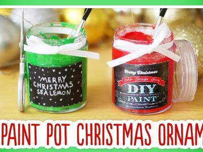 DIY Paint Pot Christmas Ornament: Ornament Exchange