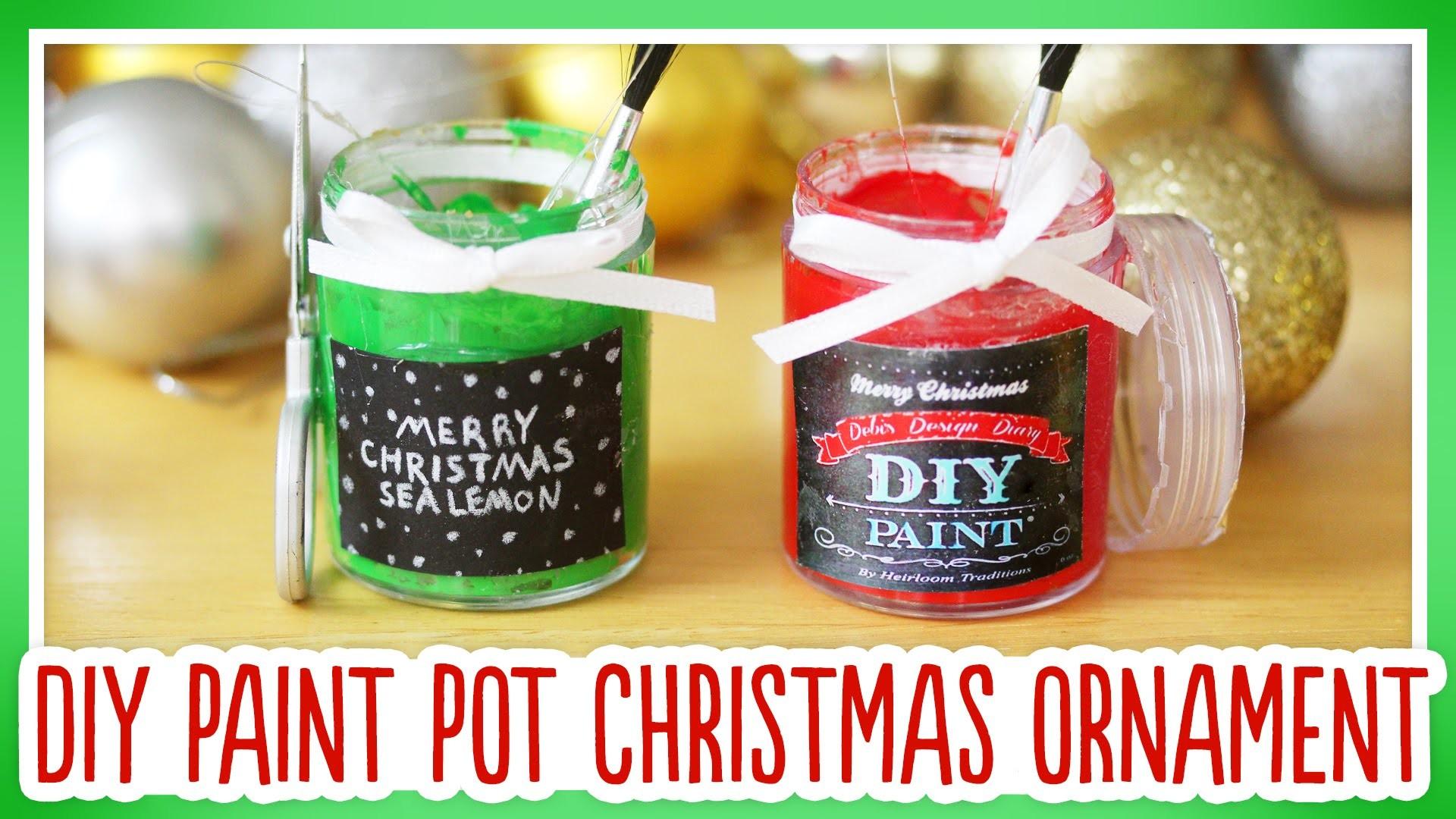 DIY Paint Pot Christmas Ornament: Ornament Exchange