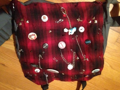 DIY Punk.Visual Kei Messenger Bag