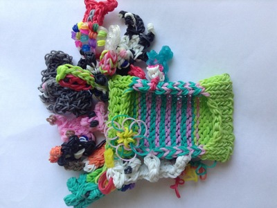 DIY Rainbow Loom Phone Case + 15 DETACHABLE Charms!