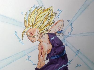 Drawing Gohan SSJ2\Super Saiyan 2 - Kamehameha