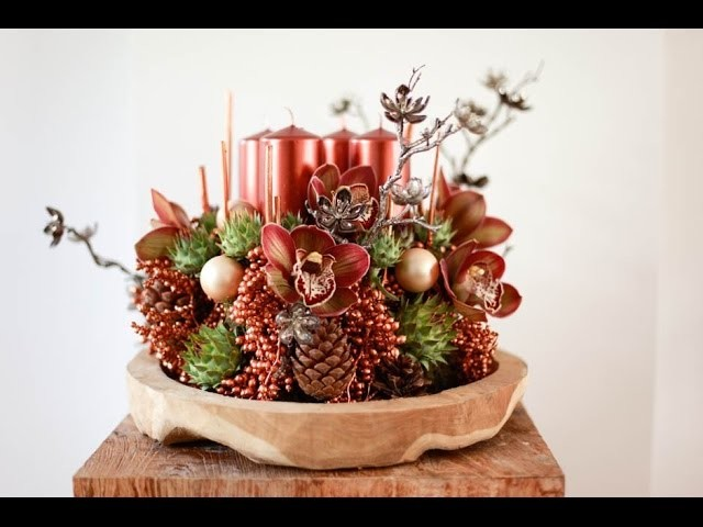 Floral Christmas Decoration How to Make How To Design Candle Centerpieces