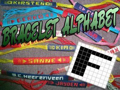 Friendship Bracelet Crochet Yarn, Alphabet: Letter F