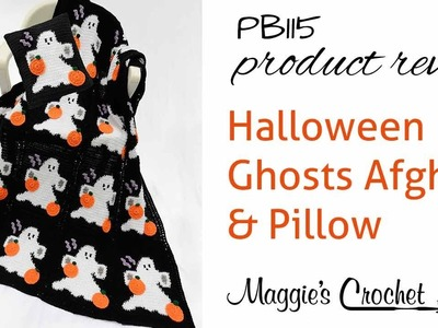 Halloween Ghosts Afghan and Pillow Set Crochet Pattern Product ReviewPB115