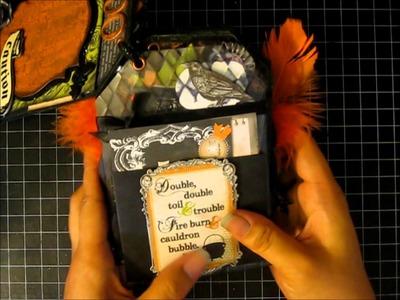 Halloween Tag Mini Album for Sandra