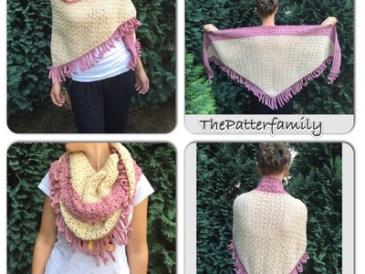 How to Crochet a Shawl Pattern #22│by ThePatterfamily