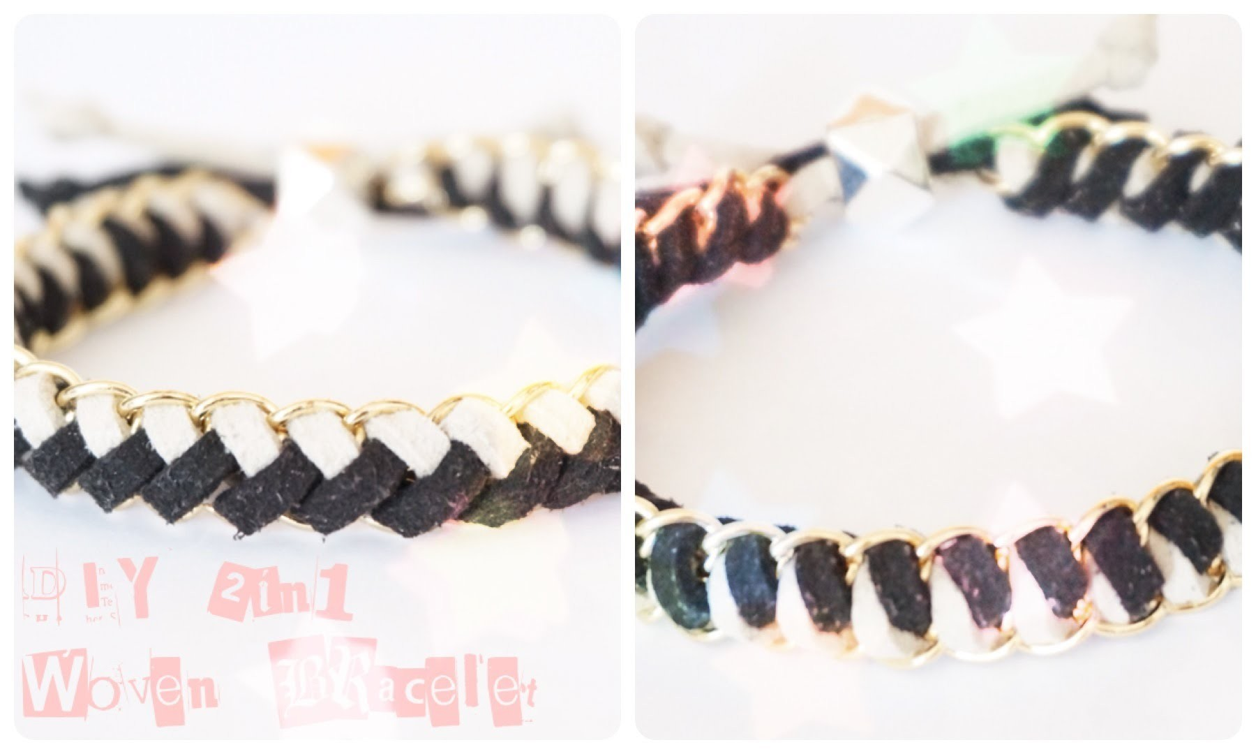 How to: DIY 2 In 1 Woven Chain Friendship Bracelet