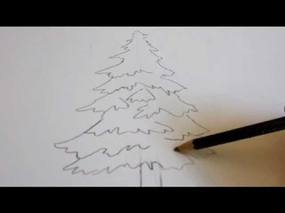 How To Draw A Tree - Draw An Evergreen Tree